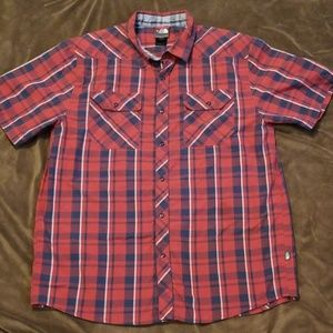 North Face Men's Large Snap Button SS Shirt